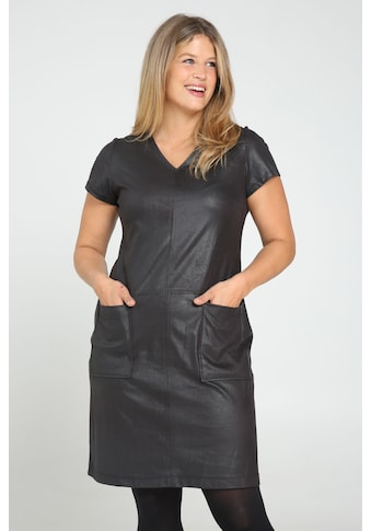 Paprika Lederkleid, bequem zu tragen kaufen