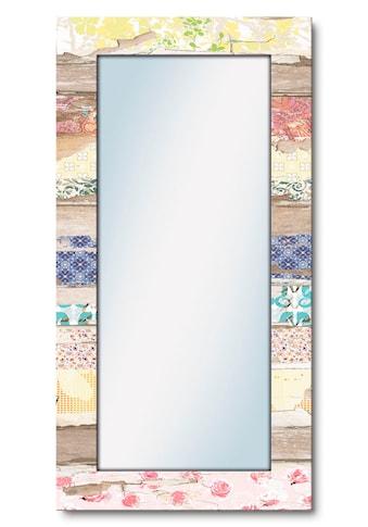 Artland Wandspiegel »Verschiedene Muster auf Holz« kaufen
