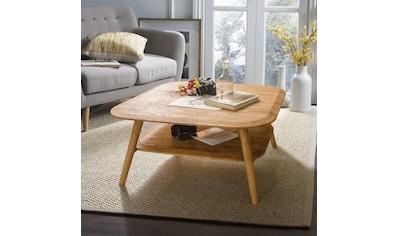 andas Couchtisch »Scandi«, aus schönem massivem Eichenholz, mit einer pflegeleichten Oberfläche, Breite 90 cm kaufen