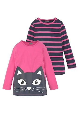 KIDSWORLD Longshirt, mit grossem Print und schönen Streifen kaufen