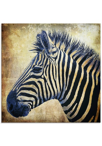 Artland Glasbild »Zebra Porträt PopArt« kaufen