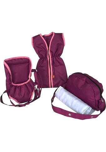 Knorrtoys® Puppen Schlafsack »Puppenzubehörset - pink purple«, mit Puppenbauchtrage... kaufen