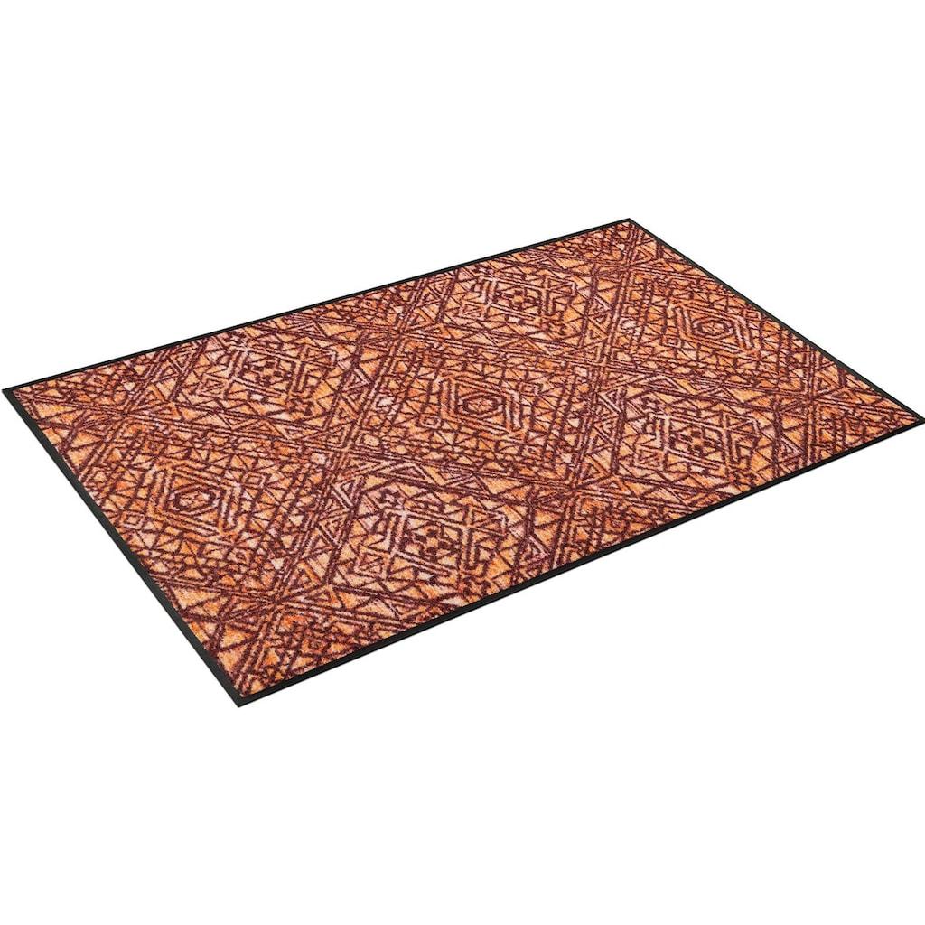 wash+dry by Kleen-Tex Teppich »Harmony«, rechteckig, 7 mm Höhe, In- und Outdoor geeignet, waschbar, Wohnzimmer