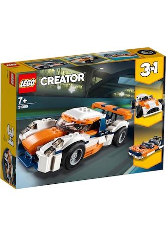 """LEGO® Konstruktionsspielsteine """"Rennwagen (31089), LEGO® Creator"""", Kunststoff, (221 - tlg.) kaufen"""