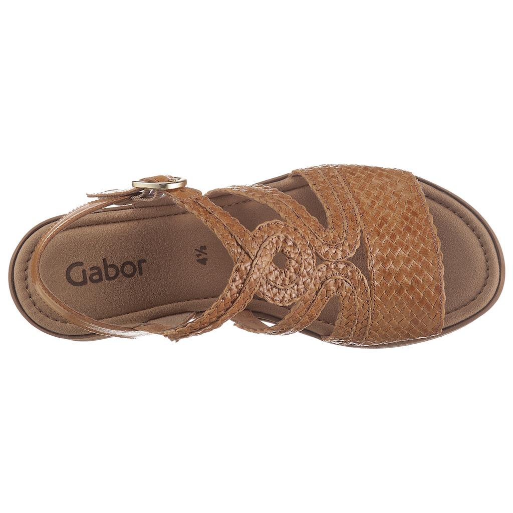 Gabor Sandalette, in sommerlicher Flechtoptik