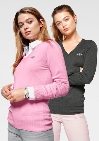TOM TAILOR Polo Team V-Ausschnitt-Pullover, im attraktiven Doppelpack kaufen