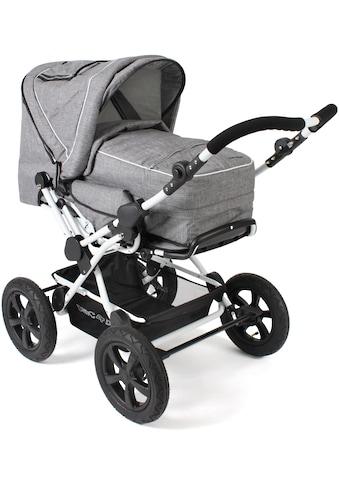 CHIC4BABY Kombi-Kinderwagen »Viva, Melange Grau«, 15 kg, ; Kinderwagen kaufen