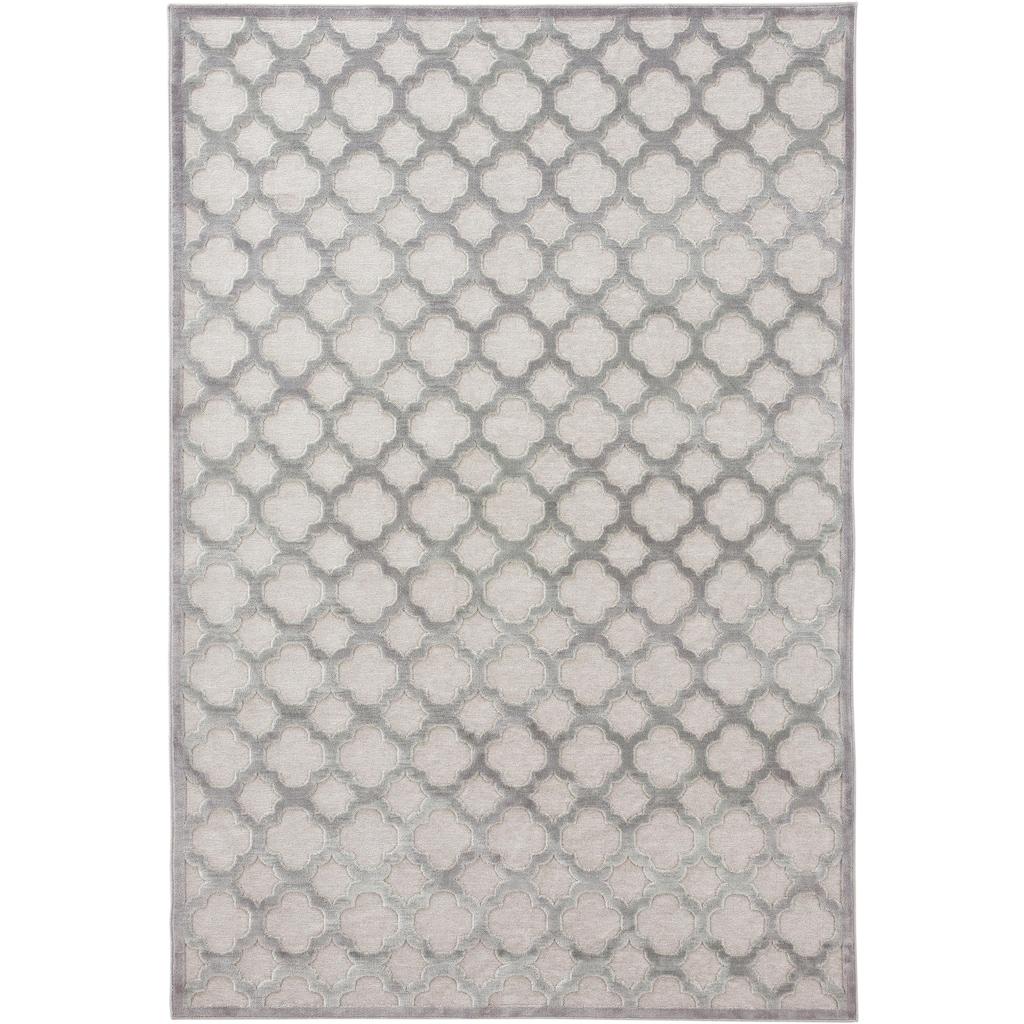 MINT RUGS Teppich »Bryon«, rechteckig, 4 mm Höhe, Viskose Glanz, Hoch-Tief Struktur, Wohnzimmer