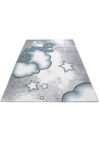 Ayyildiz Kinderteppich »Kids 580«, rechteckig, 12 mm Höhe, Teddybär, Sterne Design,... kaufen