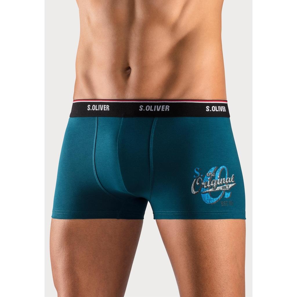 s.Oliver Bodywear Boxer, mit Print auf dem Bein