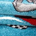 Ayyildiz Kinderteppich »Kids 460«, rechteckig, 12 mm Höhe, Kurzflor, Motiv Rennwagen