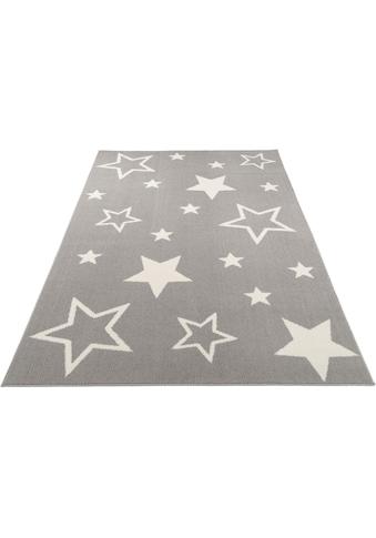 OCI DIE TEPPICHMARKE Teppich »Kiddy Star«, rechteckig, 11 mm Höhe, Sterne, Kurzflor kaufen