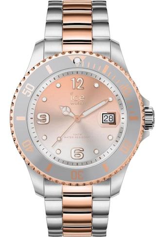 ice-watch Quarzuhr »ICE steel - Silver Sunset Rosegoldfarben - Medium - 3H, 16769« kaufen