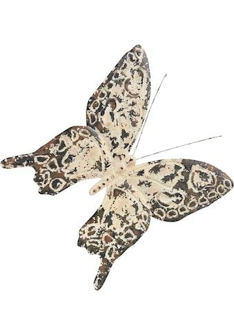 Home affaire Wanddekoobjekt »Vintage Butterfly«, Wanddeko, Schmetterling, aus Metall,... kaufen