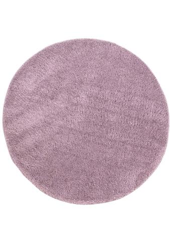 Hochflor - Teppich, »Softshine 2236«, Carpet City, rund, Höhe 30 mm, maschinell gewebt kaufen