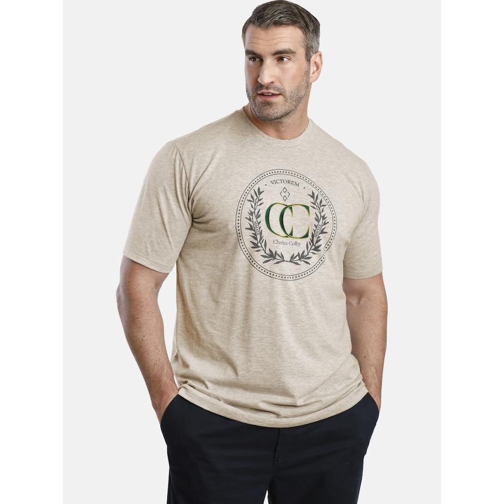 Charles Colby T-Shirt »EARL CRAIG«, gesticktes CC-Logo