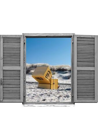 queence Wandtattoo »Strandkorb« kaufen