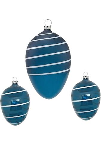 Thüringer Glasdesign Osterei »Spirale«, aus Glas, mundgeblasen, handdekoriert kaufen