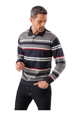 Poloshirt mit geschmackvollem Ringel - Muster kaufen