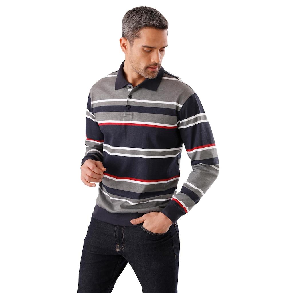 Classic Langarm-Poloshirt