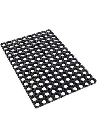 Andiamo Fussmatte »Gummi Ringmatte«, rechteckig, 15 mm Höhe, Fussabstreifer, Fussabtreter, Schmutzfangläufer, Schmutzfangmatte, Schmutzfangteppich, Schmutzmatte, Türmatte, Türvorleger, In- und Outdoor geeignet, besonders robust kaufen