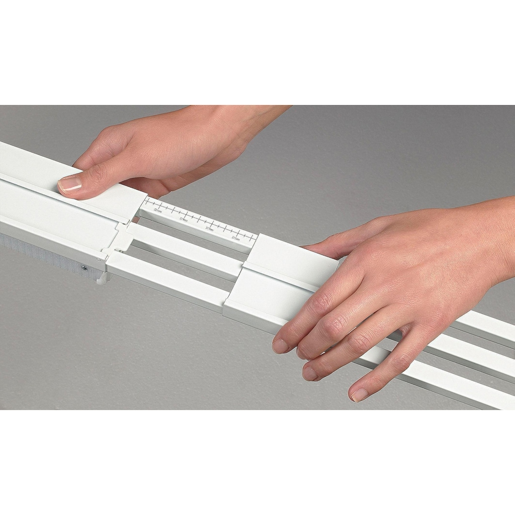 sunlines Schienensystem, 2 läufig-läufig, ausziehbar, Komplett-Set