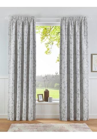 Leonique Vorhang »CELESTIAL«, nachhaltig aus Bio Baumwolle, blickdicht, florales Muster kaufen