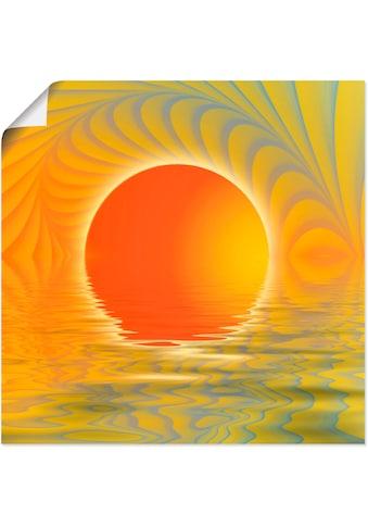 Artland Wandbild »Abstrakter Sonnenuntergang«, Muster, (1 St.) kaufen