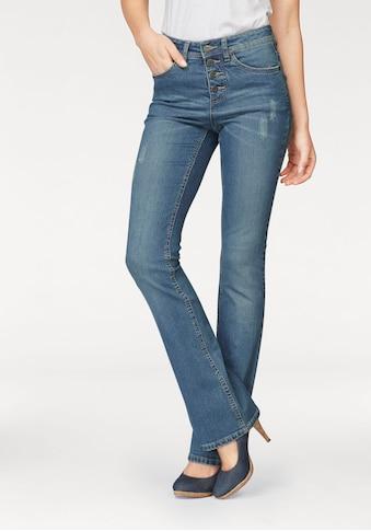 Arizona Bootcut - Jeans »mit sichtbarer Knopfleiste« kaufen