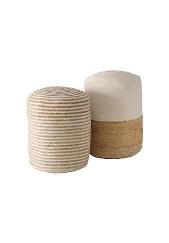 BOLTZE Pouf »Lurje Baumwolle, Beige/Braun« kaufen