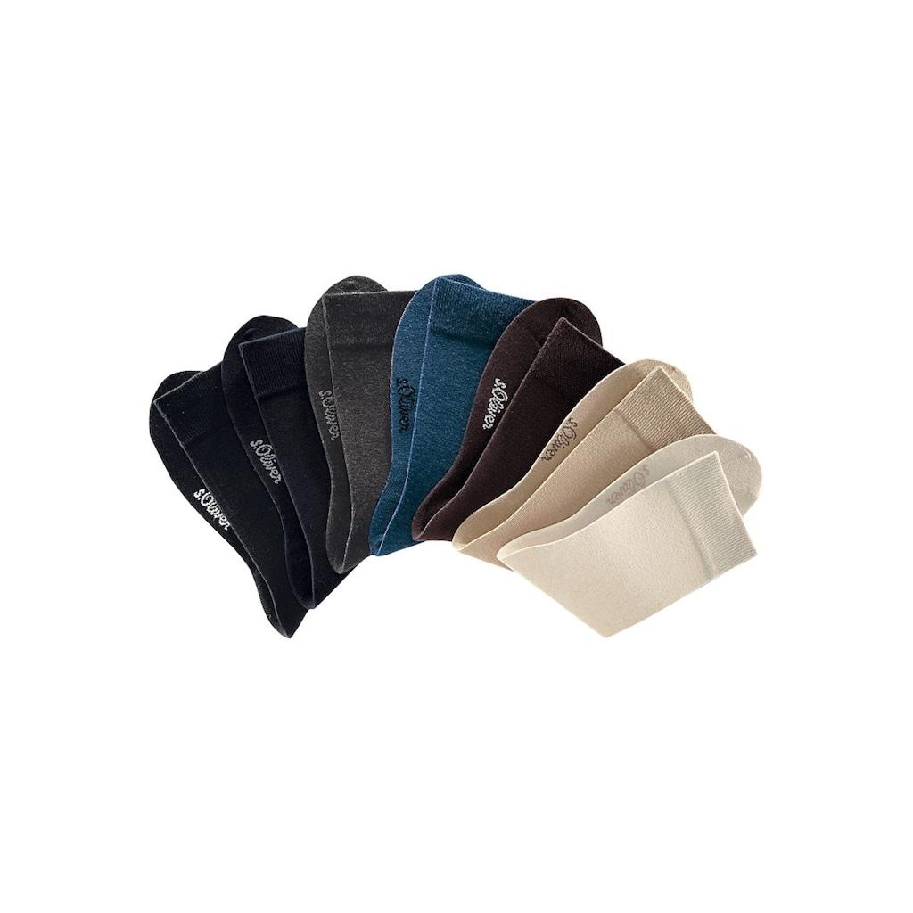 s.Oliver Bodywear Businesssocken, (Dose, 7 Paar), in der praktischen Dose