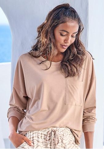 LASCANA Pyjamaoberteil, in kuschelweicher Qualität kaufen
