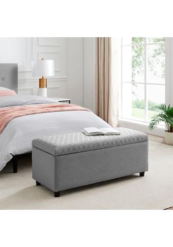 Leonique Bettbank »Fabrice«, Sitzfläche gesteppt, mit Strauraum kaufen