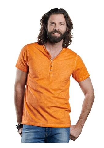 emilio adani Henley T - Shirt mit spannendem Farbeffekt kaufen