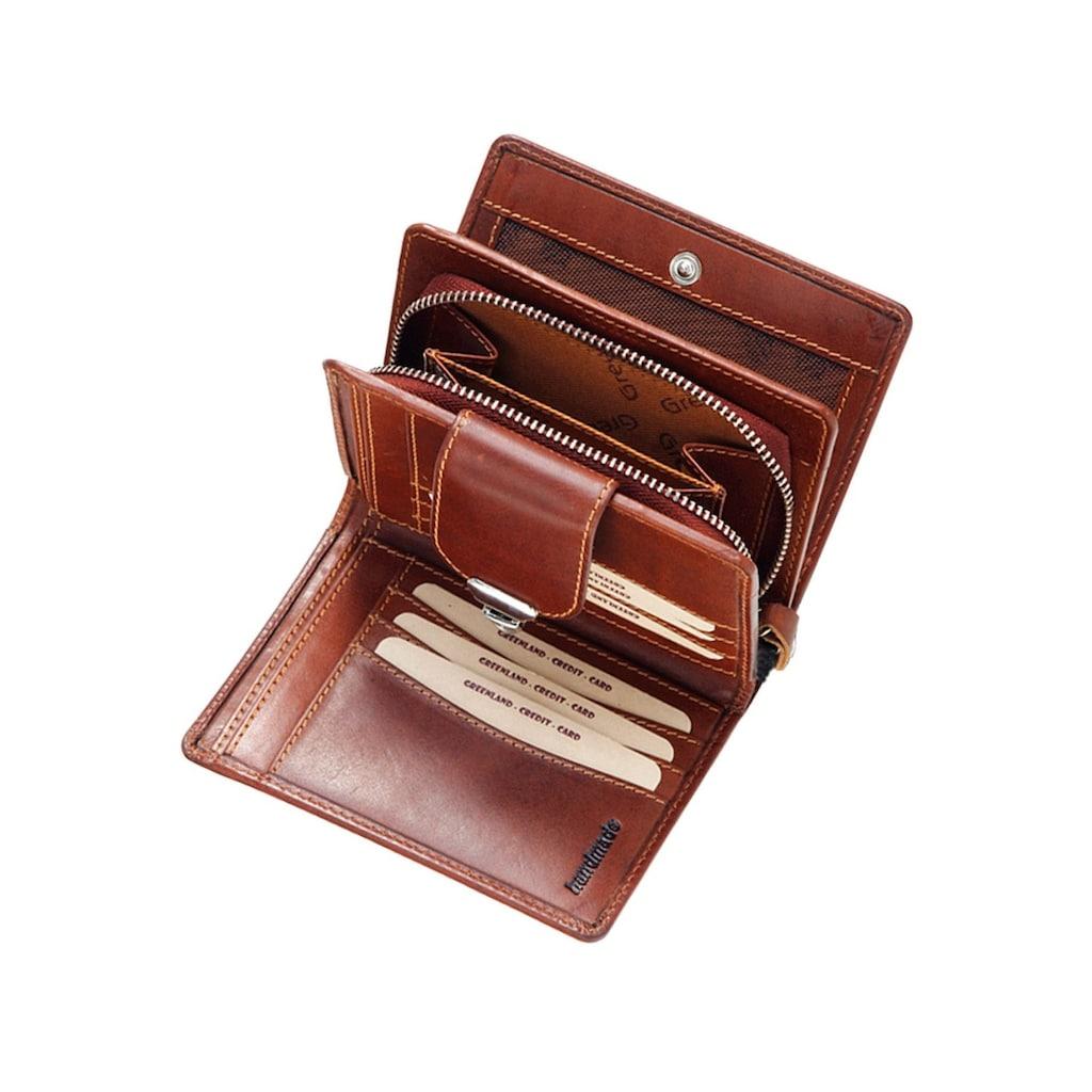 GreenLand Nature Geldbörse »Rubin«, aus Leder mit Schnappverschluss