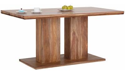 Home affaire Esstisch »Kacy«, mit sichtbarer Holzmaserung, in 2 verschiedenen Tisch Breiten kaufen