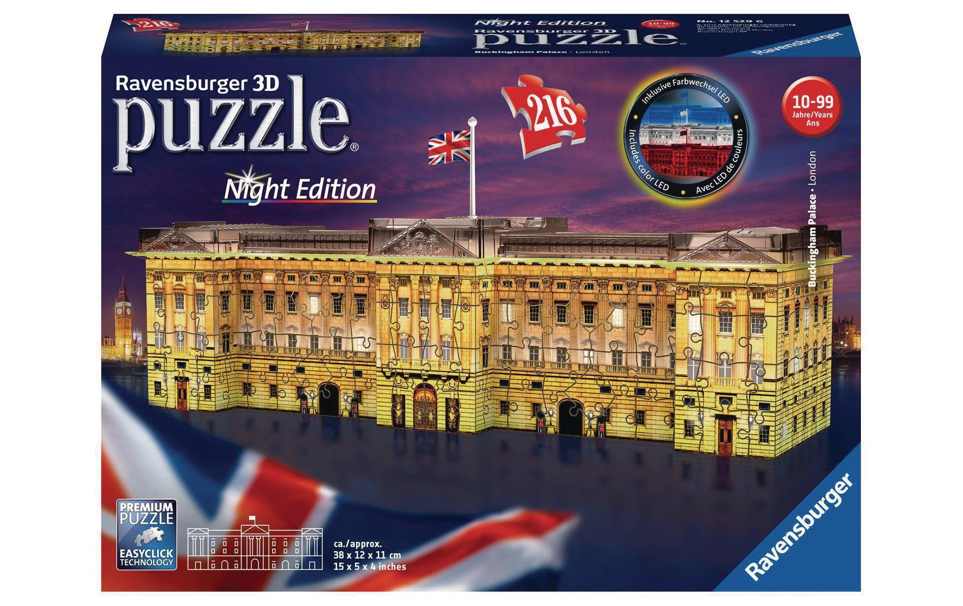 Image of 3D Puzzle, Ravensburger, »Buckingham Palace bei Nacht«