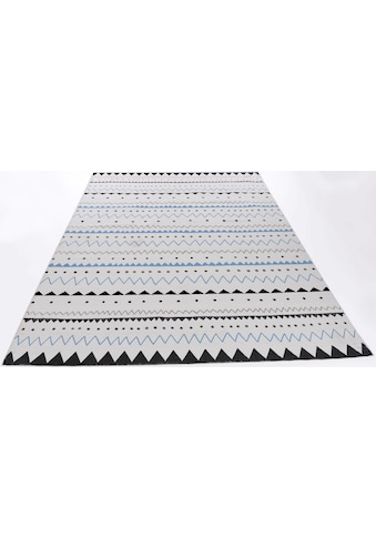 THEKO Teppich »Tuxedo«, rechteckig, 5 mm Höhe, Flachgewebe, handgewebt, Wohnzimmer kaufen