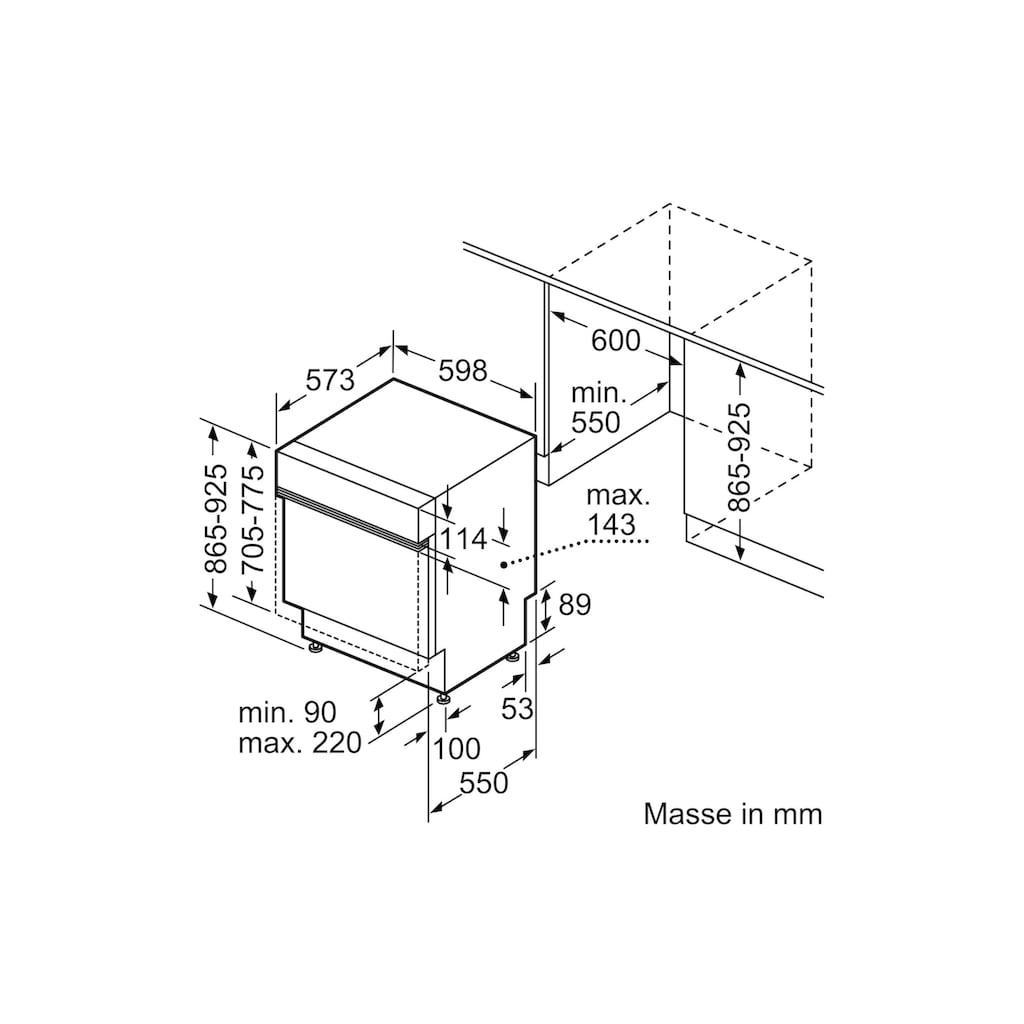 SIEMENS teilintegrierbarer Geschirrspüler »iQ300 SX53EW17AH A+++«, iQ300 SX53EW17AH