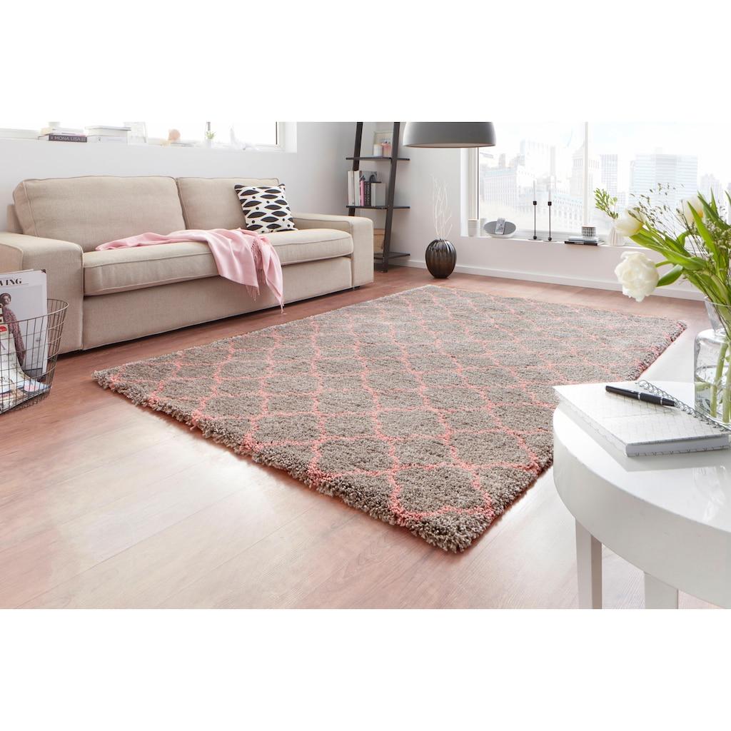 MINT RUGS Hochflor-Teppich »Luna«, rechteckig, 35 mm Höhe, modernes Allover Design, Wohnzimmer