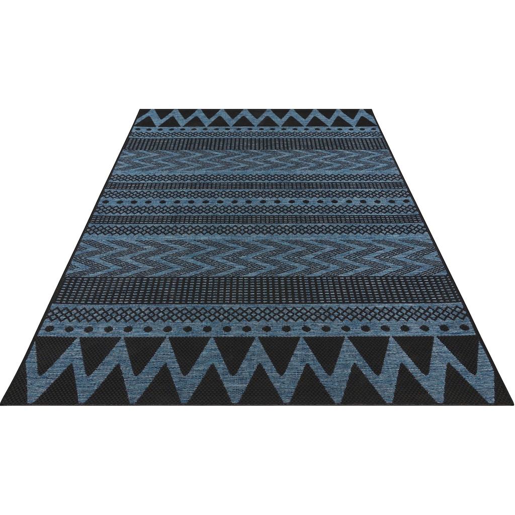 bougari Teppich »Sidon«, rechteckig, 4 mm Höhe, In- und Outdoor geeignet, Flachgewebe, Wohnzimmer