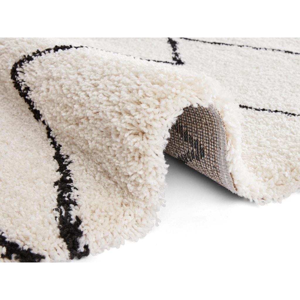 MINT RUGS Hochflor-Teppich »Jara«, rechteckig, 35 mm Höhe, besonders weich durch Microfaser, Wohnzimmer