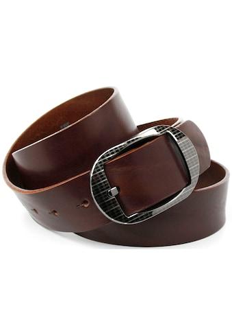 Anthoni Crown Ledergürtel, Schliesse mit Klemmsystem kaufen
