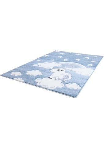 Carpet City Kinderteppich »Bueno Kids 1450«, rechteckig, 13 mm Höhe, Einhorn, handgearbeiteter Konturenschnitt kaufen