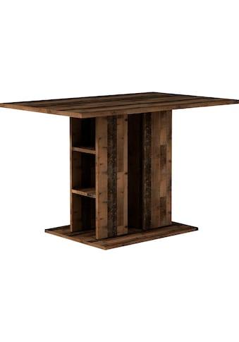 Homexperts Säulen-Esstisch »Mulan«, Breite 110 cm mit Regalfächern, in 3 Farben erhältlich kaufen
