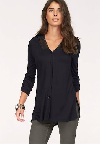Boysen's Shirtbluse, mit Spitze und tiefen Seitenschlitzen kaufen