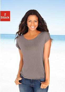 LASCANA T - Shirts (2 Stück) mit Cut - out im Nacken kaufen 61435ceeb2