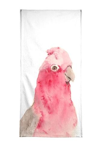 "Handtuch ""Pink Parrot"", Juniqe kaufen"