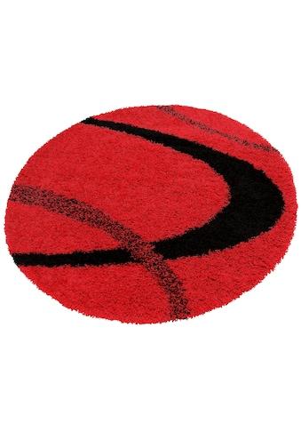 Hochflor - Teppich, »Ankara«, my home, rund, Höhe 52 mm, maschinell gewebt kaufen