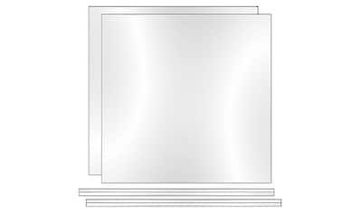 PHOENIX MÖBEL Set: Rückwand »Atlanta«, 2er Set, B/H/T: 34,2x3x34 cm kaufen